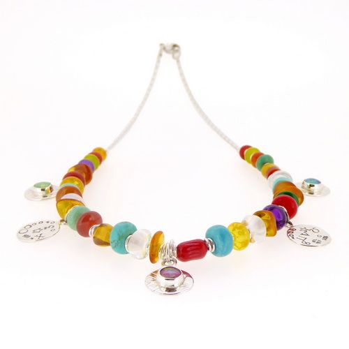 Large multi coloured necklace